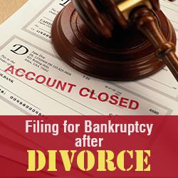 Filing for Bankruptcy after Divorce